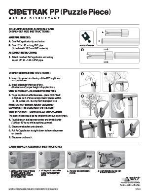CIDETRAK Puzzle Piece Dispenser Use Instructions